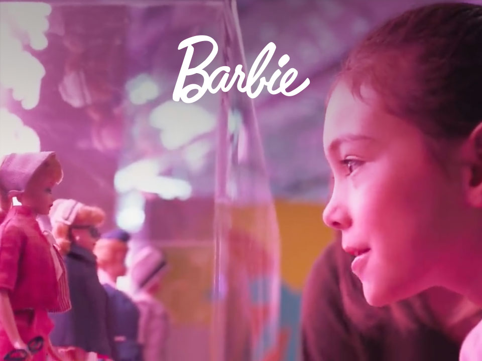 Barbie Anniversary Tour case study cover image with young girl looking at Barbie Doll